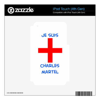 je suis charles martel crusader cross skin for iPod touch 4G