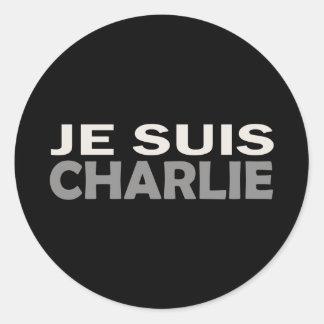 Je Suis Charlie Classic Round Sticker