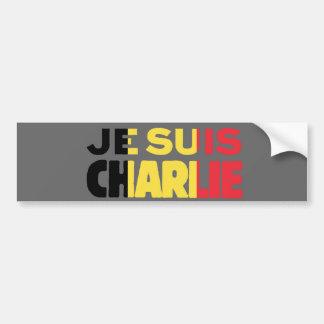Je Suis Charlie-I am Charlie-Belgium Flag on Grey Bumper Sticker