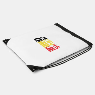 Je Suis Charlie-I am Charlie-Belgium Flag on White Drawstring Bag