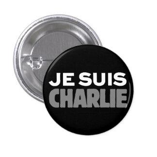 Je Suis Charlie - I am Charlie Black 1 Inch Round Button