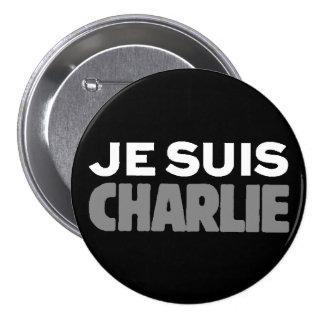 Je Suis Charlie - I am Charlie Black 3 Inch Round Button