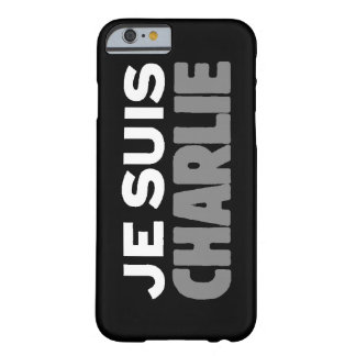 Je Suis Charlie -I am Charlie- Black Barely There iPhone 6 Case