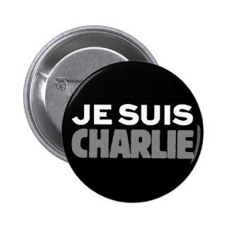 Je Suis Charlie - I am Charlie Black Button