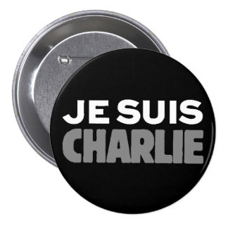 Je Suis Charlie - I am Charlie Black 3 Inch Round Button