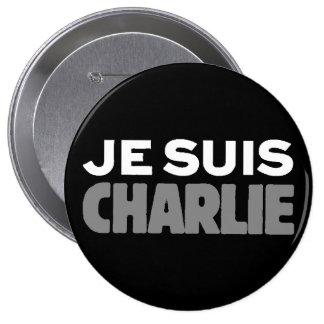 Je Suis Charlie - I am Charlie Black 4 Inch Round Button