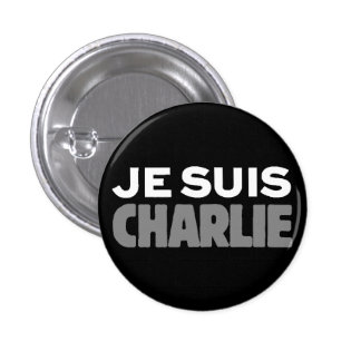 Je Suis Charlie - I am Charlie Black 1 Inch Round Button