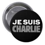 Je Suis Charlie - I am Charlie Black Buttons