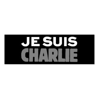 Je Suis Charlie - I am Charlie Black Double-Sided Mini Business Cards (Pack Of 20)