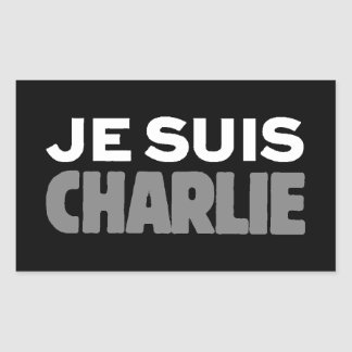 Je Suis Charlie - I am Charlie Black Rectangular Sticker