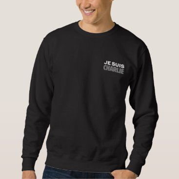 Beach Themed Je Suis Charlie - I am Charlie Black Sweatshirt