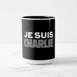 Je Suis Charlie - I am Charlie Black Two-Tone Coffee Mug