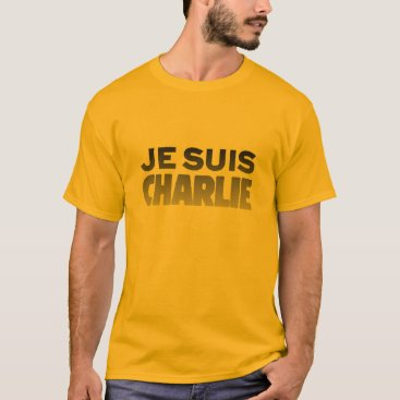Beach Themed Je Suis Charlie - I am Charlie Gold T-Shirt