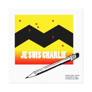 Je Suis Charlie I Am Charlie Grapic Canvas Print