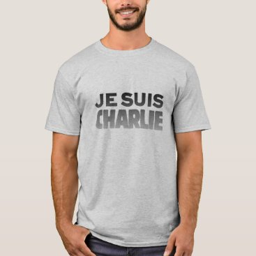 Beach Themed Je Suis Charlie - I am Charlie Grey T-Shirt