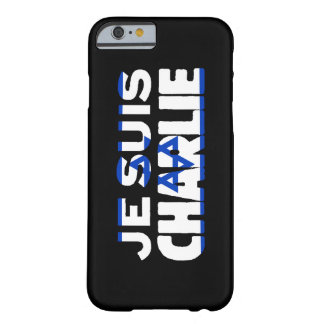 Je Suis Charlie-I Am Charlie-Israel Flag on Black Barely There iPhone 6 Case