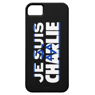 Je Suis Charlie-I Am Charlie-Israel Flag on Black iPhone 5 Covers