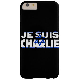 Je Suis Charlie-I Am Charlie-Israel Flag on Black Barely There iPhone 6 Plus Case