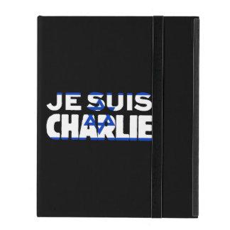 Je Suis Charlie-I Am Charlie-Israel Flag on Black iPad Case