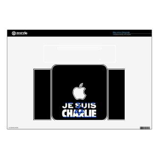 Je Suis Charlie-I Am Charlie-Israel Flag on Black Mac Mini Skins