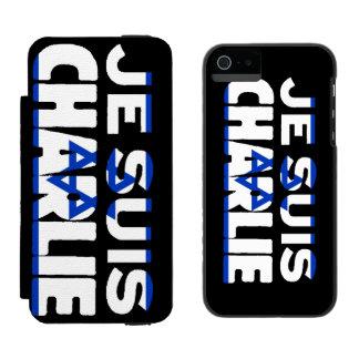 Je Suis Charlie-I Am Charlie-Israel Flag on Black Incipio Watson™ iPhone 5 Wallet Case