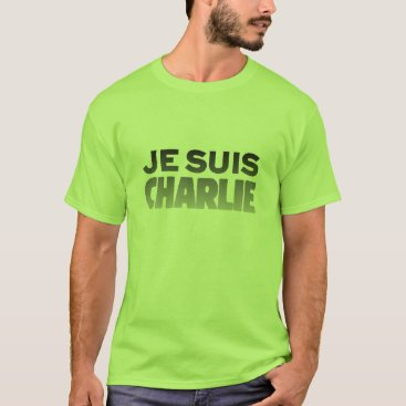 Beach Themed Je Suis Charlie - I am Charlie Lime T-Shirt