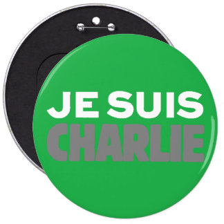 Je Suis Charlie-I Am Charlie-Magazine Cover Green Pin