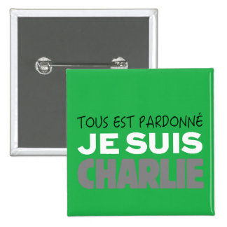 Je Suis Charlie -I am Charlie-Magazine Green Cover Pin