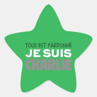 Je Suis Charlie -I am Charlie-Magazine Green Cover Star Sticker