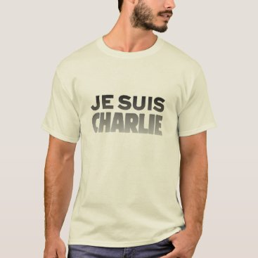 Beach Themed Je Suis Charlie - I am Charlie Natural T-Shirt