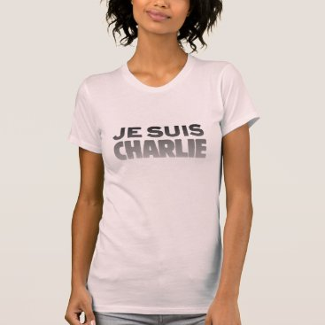 Beach Themed Je Suis Charlie - I am Charlie Pink T-Shirt