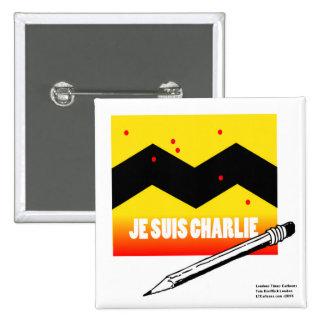 Je Suis Charlie (I Am Charlie) To Benefit Paris Pinback Buttons