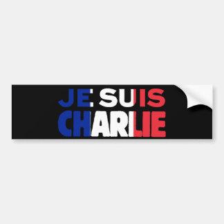 Je Suis Charlie -I am Charlie Tri-Color of France Car Bumper Sticker