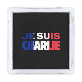 Je Suis Charlie -I am Charlie Tri-Color of France Silver Finish Lapel Pin