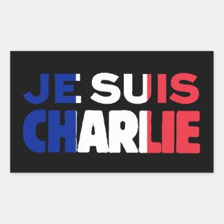 Je Suis Charlie -I am Charlie Tri-Color of France Rectangular Sticker