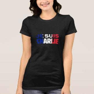 Je Suis Charlie -I am Charlie- Tri-Color of France T-Shirt