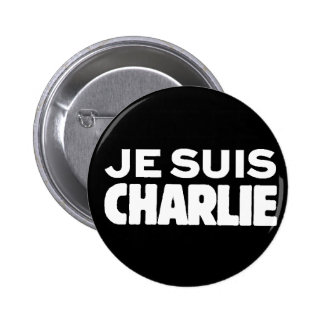 Je Suis Charlie - I am Charlie- White on Black Pins
