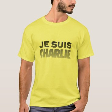 Beach Themed Je Suis Charlie - I am Charlie Yellow T-Shirt