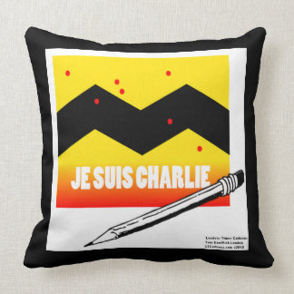 Je Suis Charlie Large Pure Cotton Throw Pillow