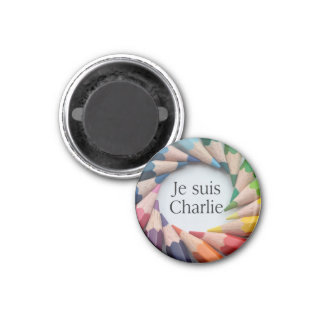 Je Suis Charlie 1 Inch Round Magnet