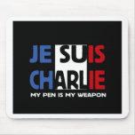 Je Suis Charlie mi pluma es mi arma Alfombrillas De Raton