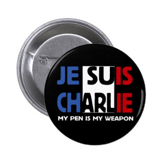 JE SUIS CHARLIE - MY PEN IS MY WEAPON PINS