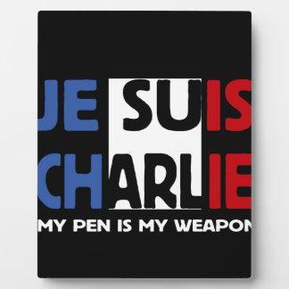Je Suis Charlie My Pen is my Weapon Plaque