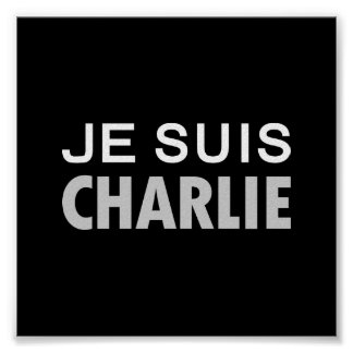 JE SUIS  CHARLIE - national unity people Poster