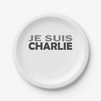 Je Suis Charlie Paper Plate