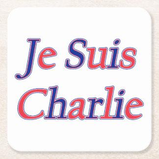 Je Suis Charlie Posavasos Desechable Cuadrado