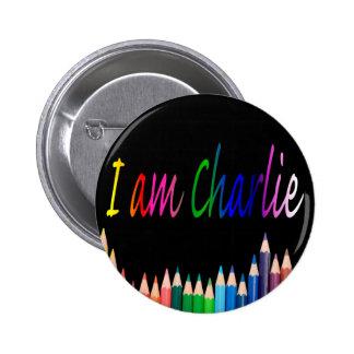 Je Suis Charlie rainbow pencils Pins