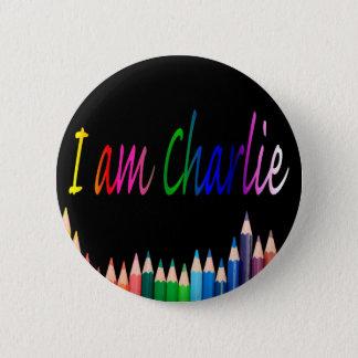 Je Suis Charlie rainbow pencils Pinback Button