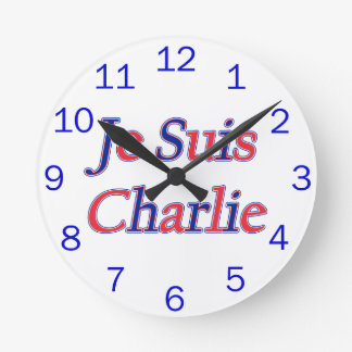 Je Suis Charlie Round Clock