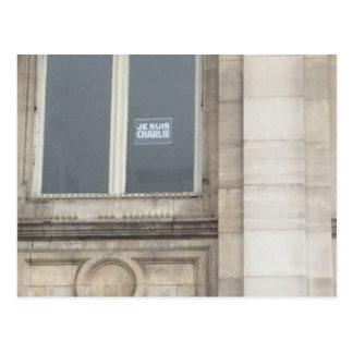 Je Suis Charlie Sign in a Paris window, France Postcard